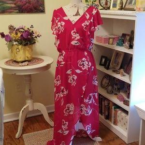 Stunning red maxi dress